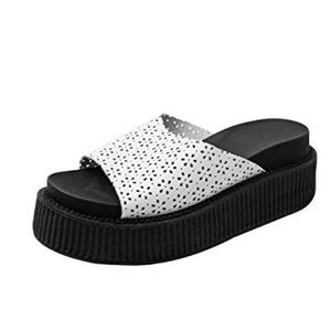 TUK Perforated Platform Sandal